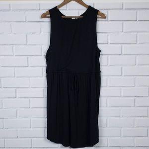 Gap Maternity Black Sleeveless Midi Dress Large